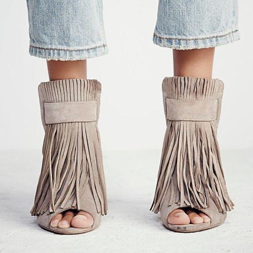 Women  Flocking Pumps Casual Comfort Button Shoes