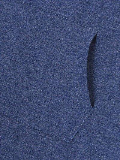 Asymmetric Hem Kangaroo Pocket Plain Hoodie