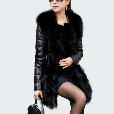 Faux Fur Coat  Leather Jacket Slim Coat Outerwear