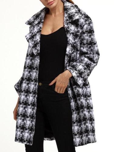 Women's Classic Style Woolen Coat Outwear