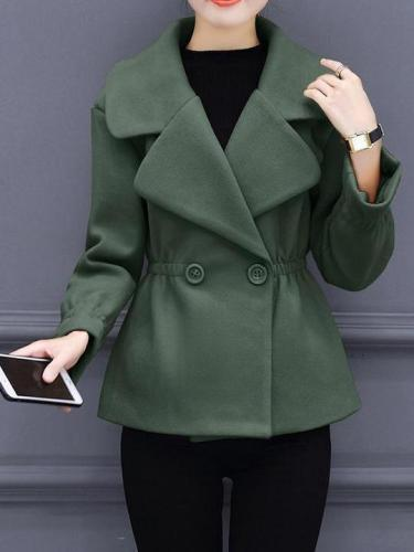 Women's Slim Woolen Coat Outwear