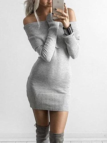 Sexy Open Shoulder Sweater