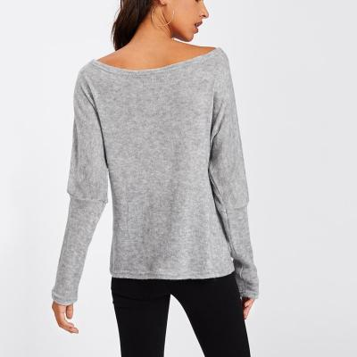 Sexy Off-The-Shoulder Knitted Sweater