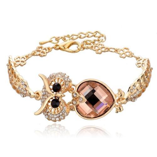 Cute Owl Crystal Bracelets & Bangles Vintage Design