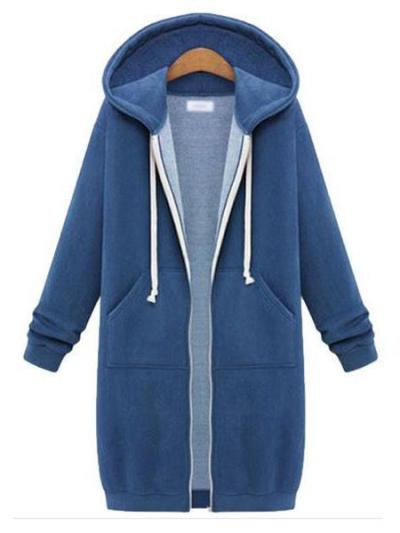 Women's Hooded Coat Thick Overcoat