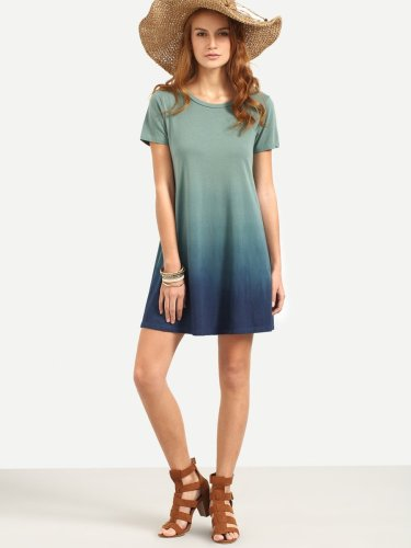 Ombre Tee Dress