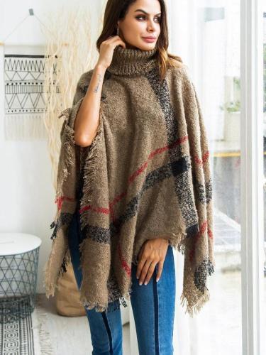 New High collar Cloak Irregularity Knit coats