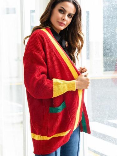 Christmas Cardigan  Loose Knit Outwear