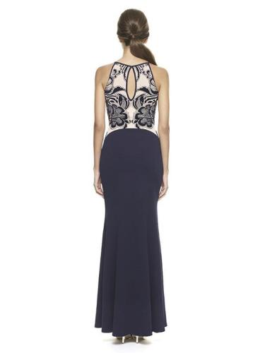 Sleeveless Split-joint Slim Fit Evening Dress