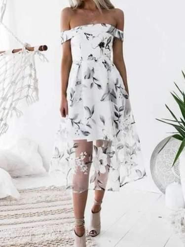 Isabelle - Elegant Floral Dress