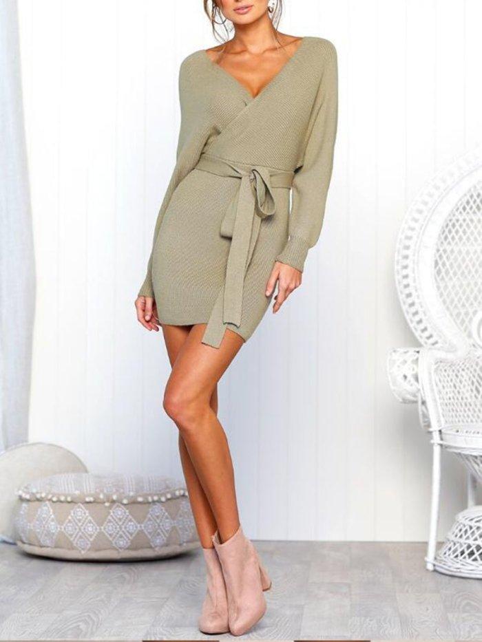 Sexy Long Sleeve Woman Autumn Bodycon Dress