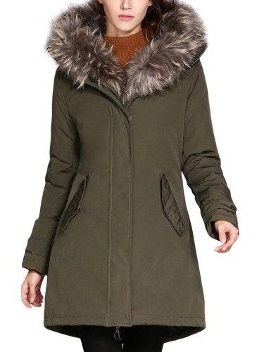 Women New Hoodies Fur collar Coats