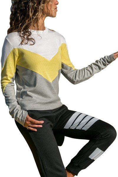 Women Round neck Long sleeve Gored T-Shirts
