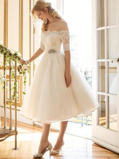 Girlish Sweetness Off-the-shoulder Evening Dress