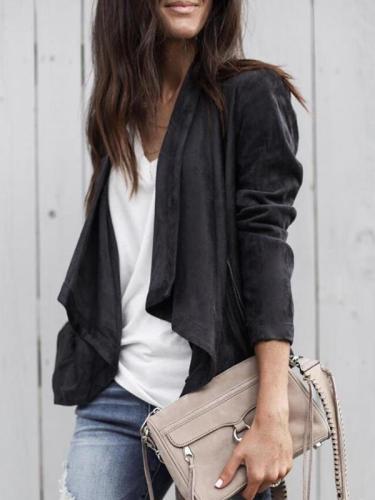 Stylish Big Lapel short Trench coat