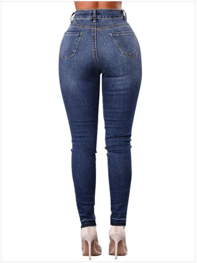 New High-waisted  Patch Pencil pants
