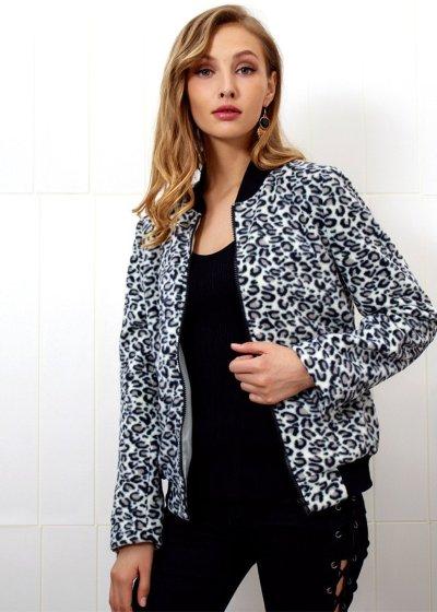 New Fashion Leopard print Zipper Jackets