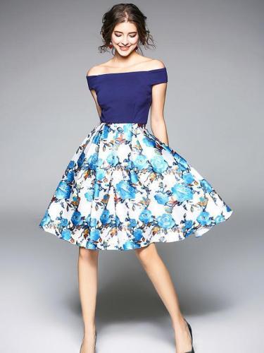 Elegant Printed A-Line Mini Dress