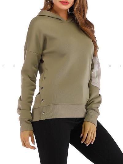 Casual women long sleeve hoodied