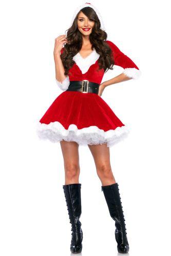Fashion Christmas Velvet V neck Half sleeve Hoodie Dress