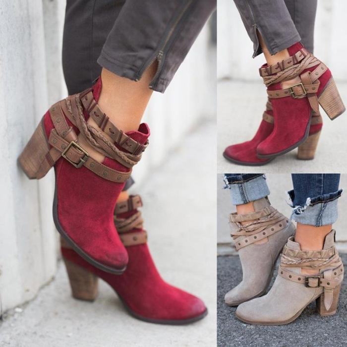 New Explosion Section Thick Ankle Boots