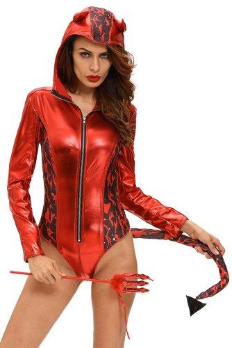 Halloween Cosplay evil Ox horn Hoodie  jumpsuits