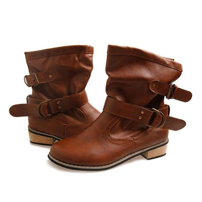 Flat  Round Toe Flat Boots