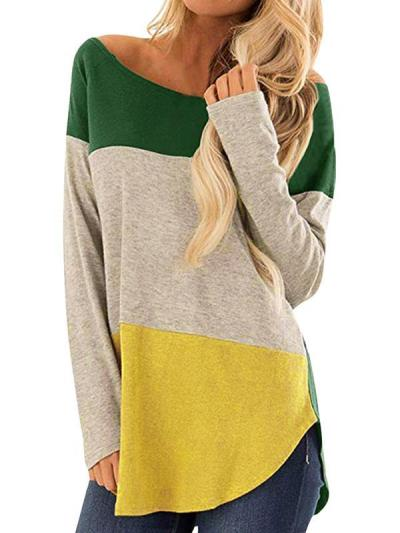 Round neck women casual t-shirts