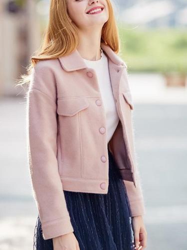 Fashion  Casual Jackets  Single-breasted Coats