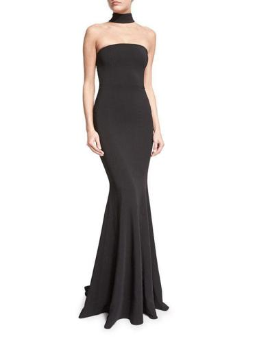 Beautiful Black Halter Sleeveless Maxi Dress Evening Dress