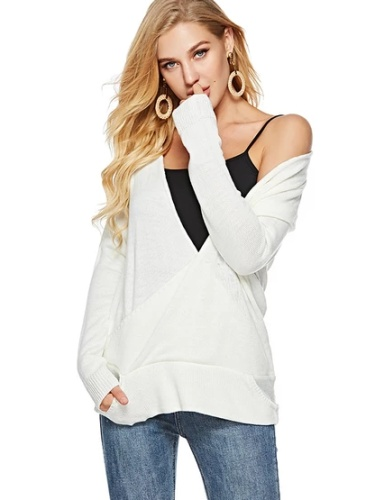 Autumn Long sleeve V neck Fashion Sweaters