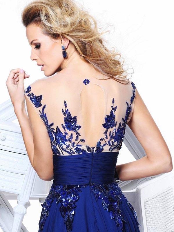 Pretty Embroidery Sleeveless Maxi Dress Evening Dress