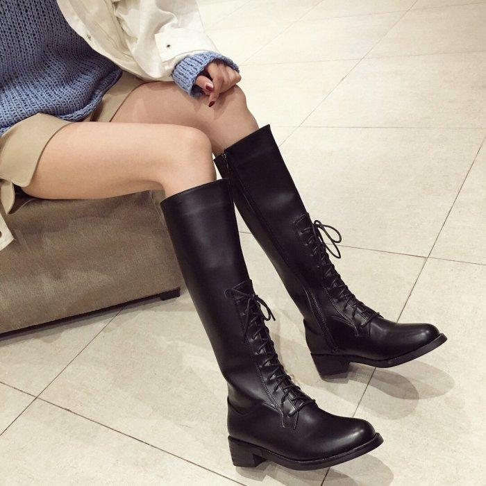 New Lace Med heel Knight Chunky Kinky Boots