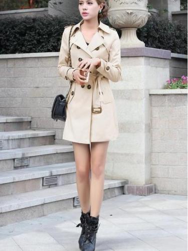 Women Fashion Lace Trench Coats