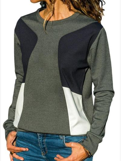New Casual Round neck Long sleeve T-Shirts