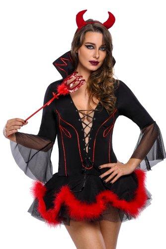 Fashion Halloween High collar Demon suit