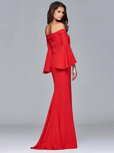 Split-side Flared Sleeves Evening Dress