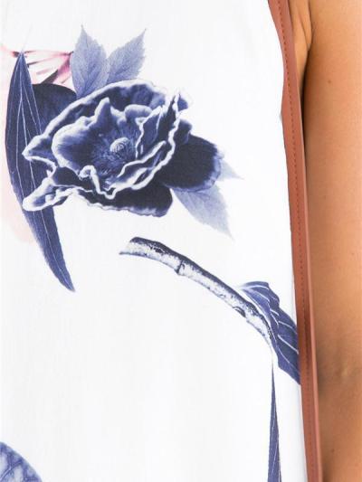 Beautiful Floral-Print Off-Shoulder Round Neck Mini Dress