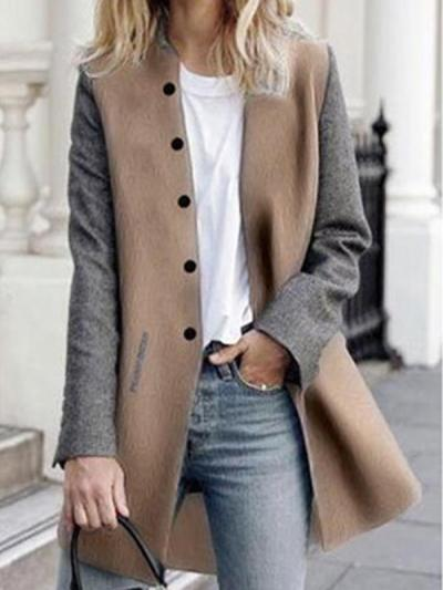 Wome stand up fashion long coats