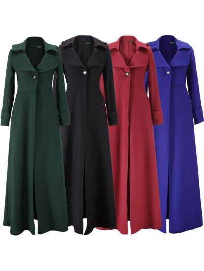 Woolen Cloth  Big Lapel Elegant Woman Coats