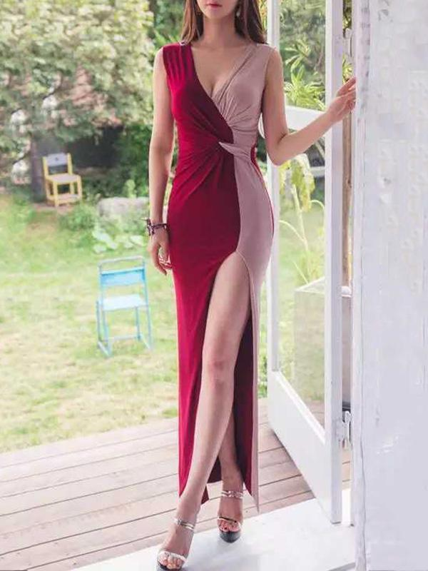 Split-side Evening Dress