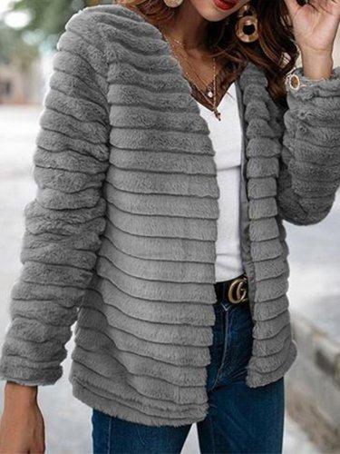 Faux Rabbit Fur Woman Fashion Coat