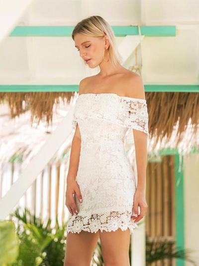 Hollow Strapless Backless Mini Dress