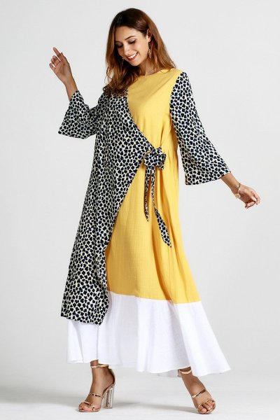 New Autumn  Gored Maxi Dresses