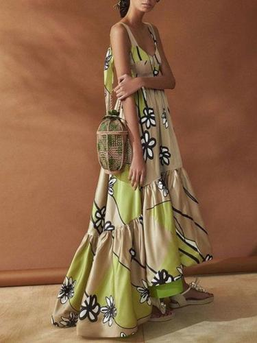 Bohemia Backless Backless Maxi Dresses