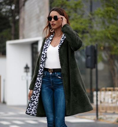 New  Women Floral Plush  Coats
