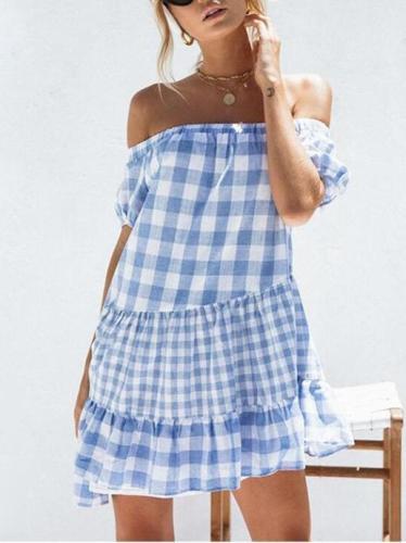 Loose Off-the-shoulder Mini Dress