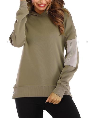Casual women long sleeve hoodied