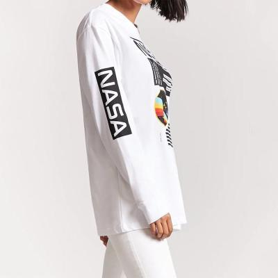Fashion White Letter Printed T-Shirts
