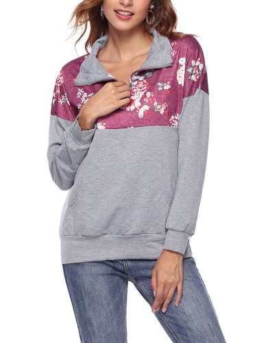 With Pocket Print Woman Hooded